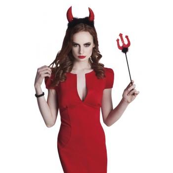 Set Diablo Tridente Y Cuernos