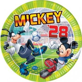 P/8 Plato 23Cm Mickey Goal