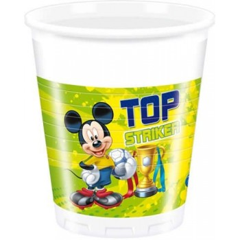 P/8 Vasos Mickey Goal