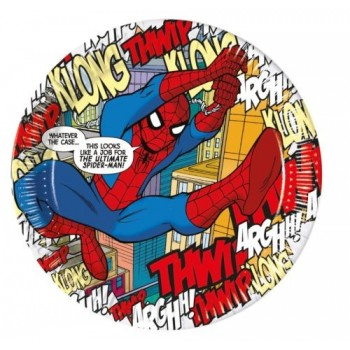 P/8 Plato 23Cm Spiderman Comic
