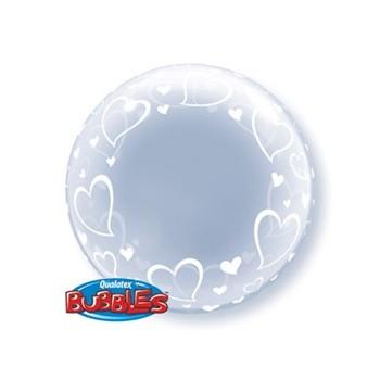 Globo Burbuja Deco.Corazones