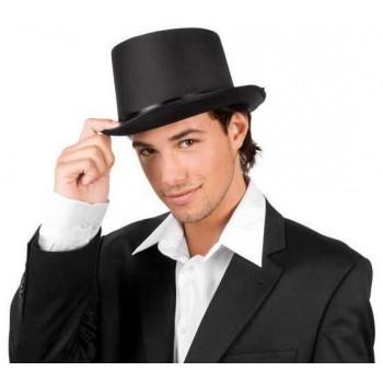 Sombrero Copa Negro Satin
