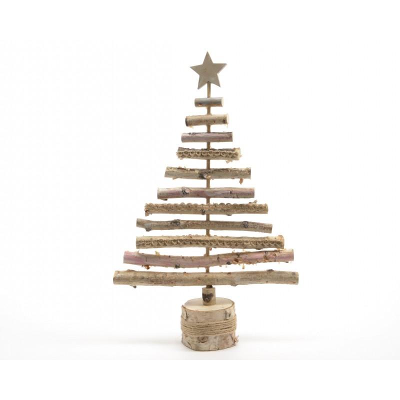 arbol navidad madera 16x4x31c - Arbol De Navidad De Madera