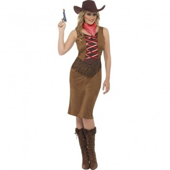 Disf.Cowgirl Flecos T-S