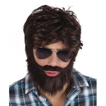 Peluca Dandy C/Barba Y Bigote