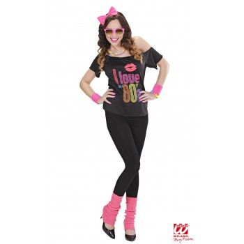 Disf.Chica I Love 80`S T-L
