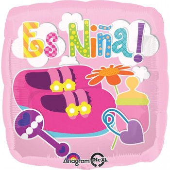 """Globo 18"""" Es Una Niña Baby Ico"""