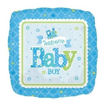 Globo Cuad.Welcome Baby Boy