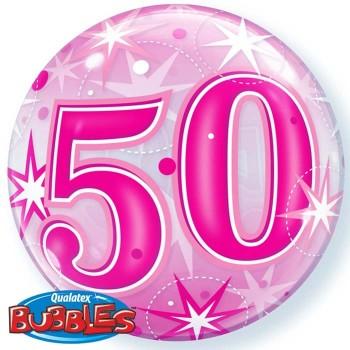 """Globo 22"""" Burbuja 50 Rosa"""