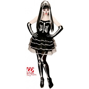 Disf.Chica Esqueleto C/Tutu L