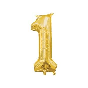 Mini Globo Numero 1 Oro