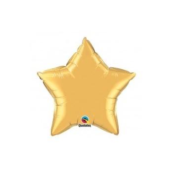 """Globo Estrella 32"""" Oro Jumbo"""