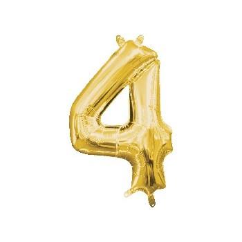 Mini Globo Numero 4 Oro