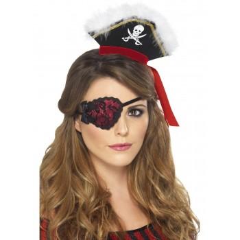Parche Pirata Rojo C/Lazo Negr