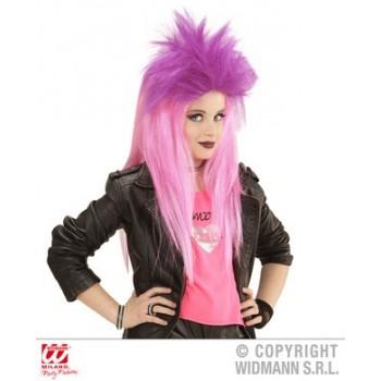 Peluca Punk Rosa/Violeta