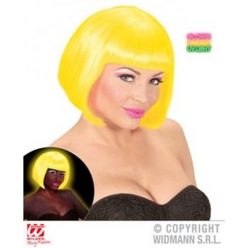 Peluca Valentina Amarilla Fluo