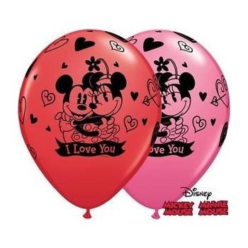 Globo Latex Minnie Mickey Love