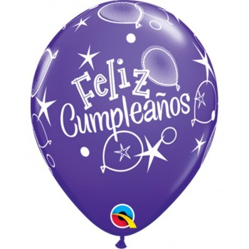 "Globo 11""Feliz Cumpleaños Glob"