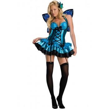Disf.Mariposa Sexy Azul T-S