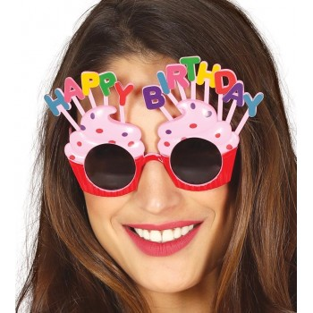 Gafas Happy B-Day Rosa