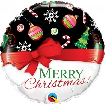 """Globo 18""""Merry Christmas Lazo"""