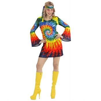 Disf.Chica Vestido Hippie T-S