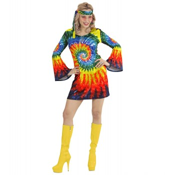 Disf.Chica Vestido Hippie T-M