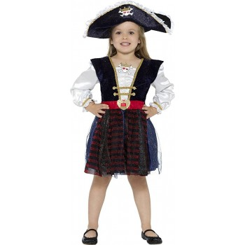 Disf.Inf.Pirata Glitter 7-9Año
