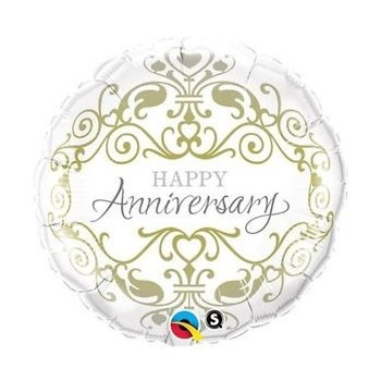 "Globo 18""Happy Anniversary"
