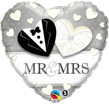 Globo Corazón Mr&Mrs Corazones
