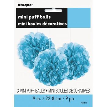 P/3 Pompon Azul Pastel 23Cm