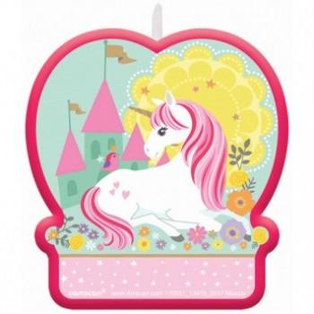 Vela Bday Unicornio Mágico