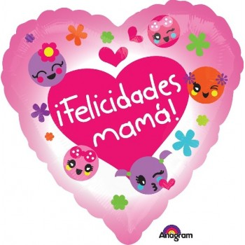Globo Corazon Emoticono Mama