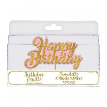Vela Happy Birthday Glitt.Oro