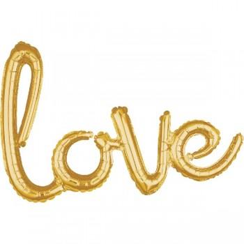"Globo Letras ""Love"" Oro"