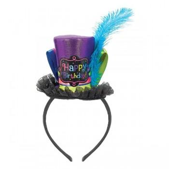 Diadema C/Sombrero Happy Bday
