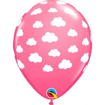 "Globo 11""Rosa Nubes Blancas"