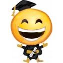Globo Emoticono Graduacion