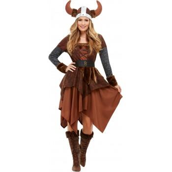 Disf.Reina Vikinga Marron T-L