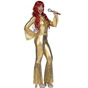 Disf.Chica Disco Mono Oro M-L