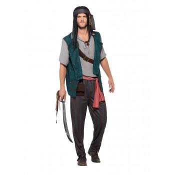 Disf.Pirata Chaleco Verde M