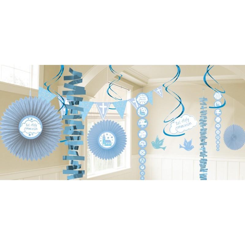 P/18 Deco Colg.Comunion Azul