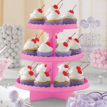 Expositor Cupcakes Fucsia