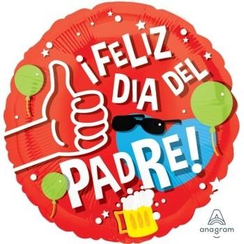"""Globo 18""""Feliz Dia Del Padre R"""