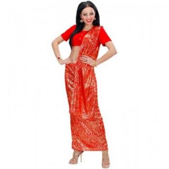 Disf.Sari Rojo Bollywood T-S