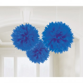 P/3 Pompon Azul Royal 40Cm