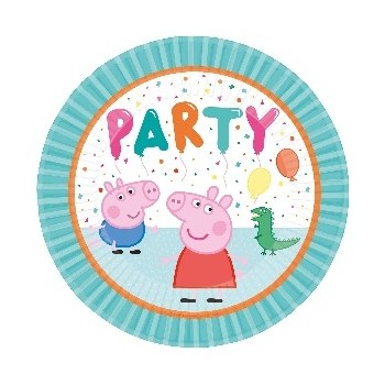 P/8 Plato 23Cm Peppa Pig Party