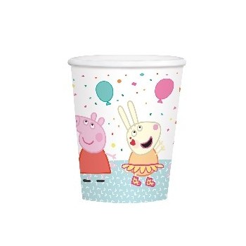 P/8 Vasos Peppa Pig Party