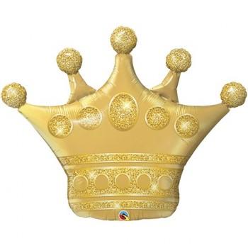 Globo Forma Corona Oro 100Cm