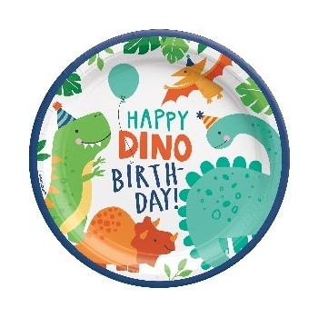 P/8 Plato 23Cm Happy Dino Bday